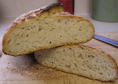 No Knead Bread Cut